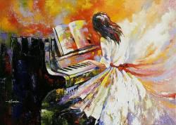 Девочка за роялем